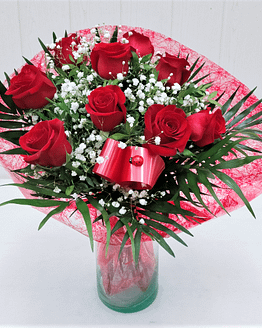 ramo nueve rosas