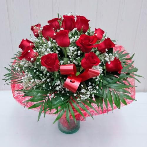 ramo quince rosas