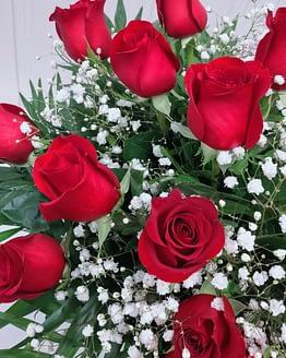 detalle rosas rojas