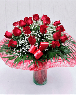 dieciocho rosas rojas