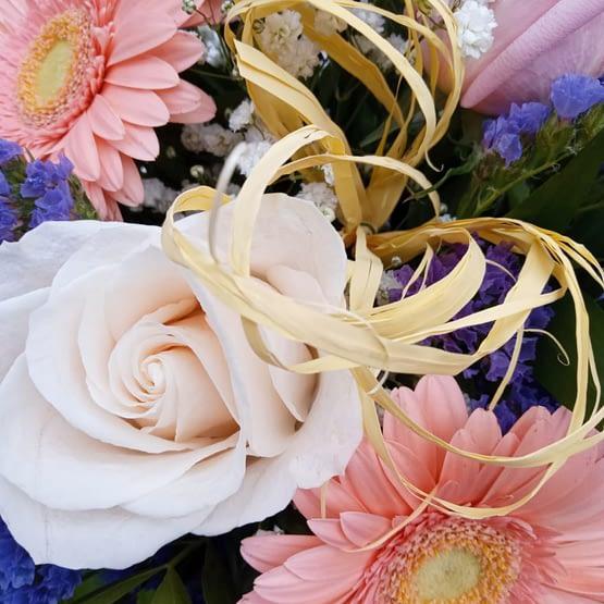 detalle rosa blanca
