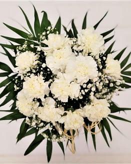 ramo claveles blancos